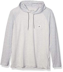 Quiksilver Men's Michi Hood Update Knit TOP, Light Grey Heather, L
