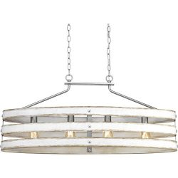 Progress Lighting P400097-141 4-75W MED Island Chandelier, Galvanized Finish
