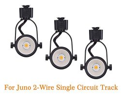 Cloudy Bay Juno Type LED Track Light Head,10W CRI 90+ 3000K Warm White Dimmable,Adjustable Tilt  ...