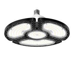 LED Garage Lights, 60W Deformable LED Garage Ceiling Lights 9000 LM CRI 80 Led Shop Lights for G ...