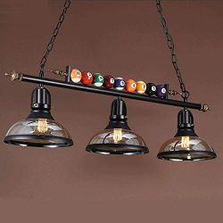iMeshbean Pool Table Lights Fixture for 7′ / 8′ / 9′ Table, 59″ Hanging  ...