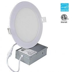 LED Recessed Lighting 6 Inch, Slim LED Recessed Ceiling Light with Junction Box 15 W 15W 1000lum ...