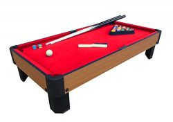 Playcraft Sport Bank Shot 40″ Pool Table with Red Cloth
