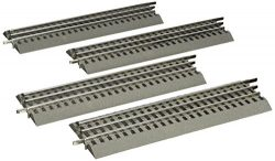 Lionel FasTrack Electric O Gauge, 10″ Straight Track, 4-Pack