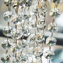 Crystal Beads for Chandelier Centerpieces 26.5-Ft Clear Glass Crystal Chandelier Beads Chain for ...