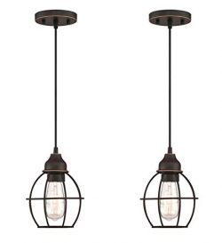 LIT-PaTH Pendant Lighting Fixture for Kitchen and Dining Room, Hanging Lighting Fixture, E26 Med ...