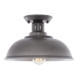 HMVPL Farmhouse Close to Ceiling Light Fixtures, Vintage Semi Flush Mounted Lighting Industrial  ...