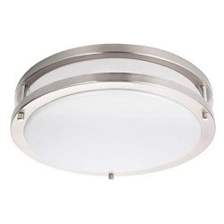 Drosbey 36W Flush Mount Ceiling Light Fixture, Dimmable, 13 inch Kitchen Light Fixtures Ceiling, ...