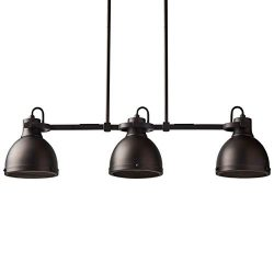 Stone & Beam Emmons Triple Ceiling Mount Pendant Lighting Chandelier With Light Bulbs – ...