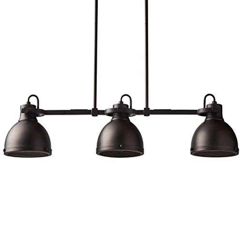 Stone & Beam Emmons Triple Ceiling Mount Pendant Lighting Chandelier With Light Bulbs – ...