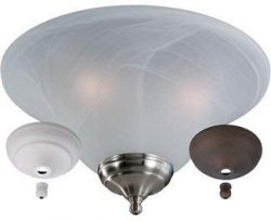 Monte Carlo MC04-L Transitional Three Fan Light Kits Collection in Multi Finish, See Image