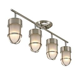Addington Park 60016 Miles Track Light, 4, Brushed Nickel Finish and Chrome Detail