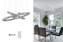 KAI Crystal Chandelier Island Pendant Light Dimmable with Remote Control Temperature Adjustable  ...