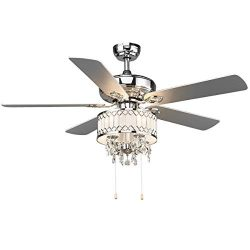 Tangkula 52″ Classical Ceiling Fan, with Pull Chain Control, Elegant Modern Ceiling Fans w ...