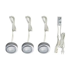 Alico Industries MZ413-5-16-K Zee-Puk Collection 3-Light Complete Kit, Stainless Steel Finish wi ...