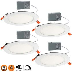 12W 6″ Ultra-Thin Recessed Ceiling Light with Junction Box, 4000K Daylight, Dimmable Airti ...