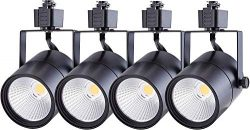 Cloudy Bay LED Track Light Head,CRI 90+ 4000K Cool White Dimmable,Adjustable Tilt Angle Track Li ...