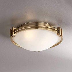Possini Euro Deco 12 3/4″ Wide Warm Brass Ceiling Light – Possini Euro Design