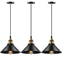 Licperron Industrial Pendant Light E26 E27 Base Vintage Hanging Pendant Lights Retro Pendant Lig ...