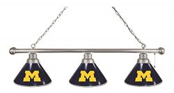 Michigan 3 Shade Billiard Light with Chrome Fixture by Holland Bar Stool