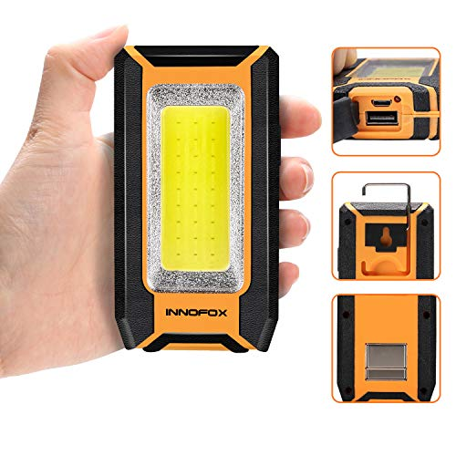 Rechargeable Work Light 40W 1500Lumens LED, Magnetic Base & Hanging Hook, 3 Lighting Modes,  ...