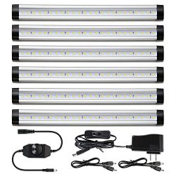 Albrillo Under Cabinet Lighting Kit, Dimmable Under Counter LED Light Strips for Kitchen Closet  ...