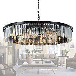 Meelighting Crystal Chandeliers Modern Contemporary Ceiling Lights Fixtures Pendant Lighting for ...