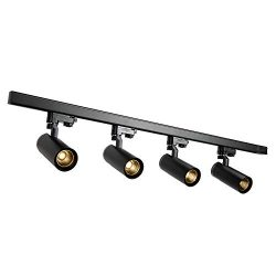 Glide 4-LED Track Lighting, 4000K 24°Beam Angle,1000 Lumens, 120 Volts, Easy Installation, Matte ...