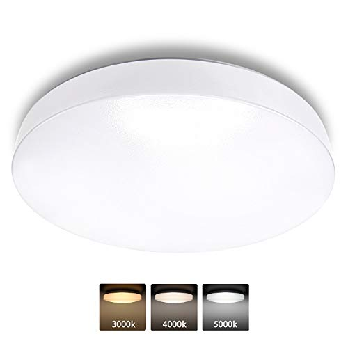 3 Color Temperature JACKYLED UL-Listed LED Ceiling Light Flush Mount 12Inch 18w 1260lm IP44 Thin ...