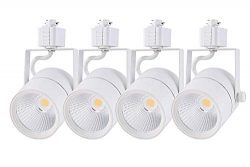 Cloudy Bay 20W Dimmable LED Track Light Head,CRI 90+ Cool White 4000K,Adjustable Tilt Angle Trac ...