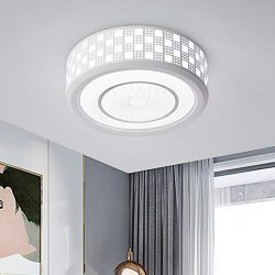 Jaycomey 24W White Ceiling Lights,Modern LED Flush Mount Ceiling Light, 11.8 Inch Round Close to ...
