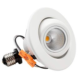 TORCHSTAR 10W 4 Inch High CRI Dimmable Gimbal Retrofit LED Recessed Light, 65W Eqv, Energy Star, ...