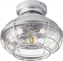 Quorum Windmill 10″ Indoor/Outdoor Ceiling Fan Light Kit in Galvanized
