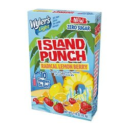 Wyler's Light Island Punch Singles To Go, Radical Lemon Berry, 10-Count Box (12 Pack) R ...