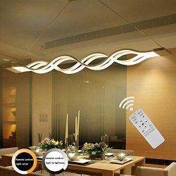 ZipLigting Modern Pendant Lighting Led Stepless Dimmable Transitional Chandelier Acrylic Dimming ...